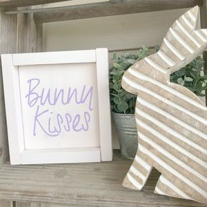 Handmade Bunny Kisses Sign